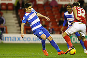 QPR midfielder Alejandro Faurlin goes in to a challenge with Nottingham Forest midfielder Robert Tesche during the Sky Bet Championship match between Nottingham Forest and Queens Park Rangers at the City Ground, Nottingham, England on 26 January 2016. Photo by Aaron Lupton.