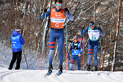 CLARION Thomas FRA B1 Guide: BOLLET Antoine competing in the ParaSkiDeFond, Para Nordic 10km during the PyeongChang2018 Winter Paralympic Games, South Korea.