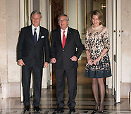 Jean-Claude Junker received by King Philippe and Queen Mathilde