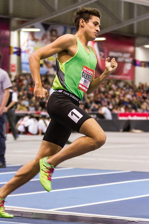 New Balance Indoor Grand Prix Track & FIeld:  men's 1000 meters Daniel Guerrero