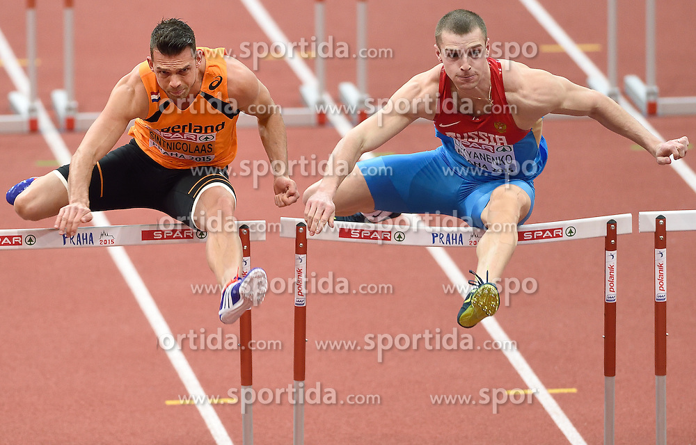 08-03-2015 CZE: European Athletics Indoor Championships, Prague<br /> Eelco Sintnicolaas NED, Artem Luykanenko RUS