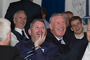 Keith Wright laughs during Alan Rough's spot at Dundee FC hall of fame dinner at Invercarse Hotel, Dundee, Photo: David Young<br /> <br />  - &copy; David Young - www.davidyoungphoto.co.uk - email: davidyoungphoto@gmail.com