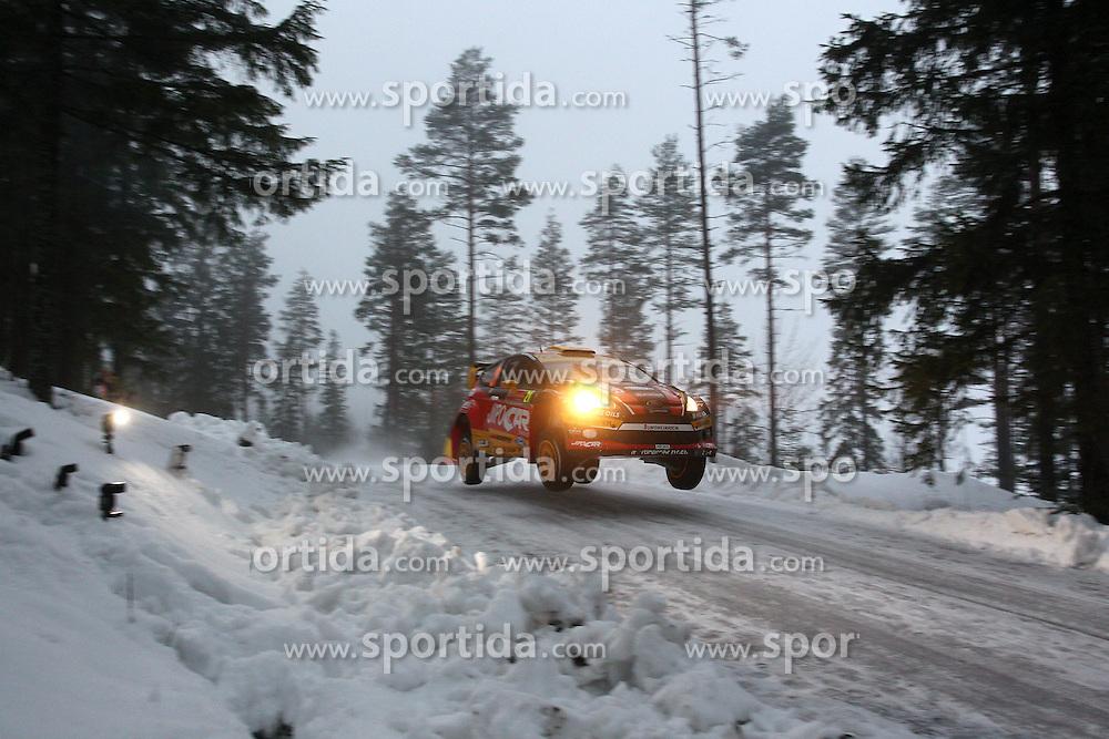 07.02.2014, Hagfors, Karlstad, SWE, FIA, WRC, Schweden Rallye, Tag 3, im Bild Martin Prokop/Michael Ernst (Jipocar Czech National Team/Fiesta RS WRC), Action / Aktion, Jump, Sprung // during Day 3 of the FIA WRC Sweden Rally at the Hagfors in Karlstad, Sweden on 2014/02/07. EXPA Pictures &copy; 2014, PhotoCredit: EXPA/ Eibner-Pressefoto/ Bermel<br /> <br /> *****ATTENTION - OUT of GER*****