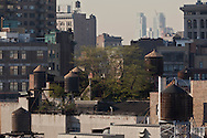 New York. Brooklyn. Lower east side , and lower manhattan skyline New York - United states  /le panorama de Lower east side et du bas de Manhattan downtown - New York - Etats-unis /