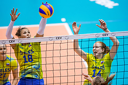 24-08-2017 NED: World Qualifications Belgium - Slovenia, Rotterdam<br /> Sasa Planinsec #18 of Slovenia, Lana Scuka #14 of Slovenia<br /> Photo by Ronald Hoogendoorn / Sportida