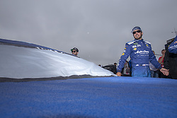 June 10, 2018 - Brooklyn, Michigan, United States of America - Martin Truex, Jr (78) waits for the start of the FireKeepers Casino 400 during a weather delay at Michigan International Speedway in Brooklyn, Michigan. (Credit Image: © Stephen A. Arce/ASP via ZUMA Wire)