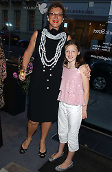 MARDI GILMOUR and her daughter GABRIELLA GILMOUR at a private view of fashion designer Lindka Cierach's Couture Dresses drawn by Trudy Good held at the Belgravia Gallery, 45 Albemarle Street, London on 21st September 2005.<br /><br />NON EXCLUSIVE - WORLD RIGHTS