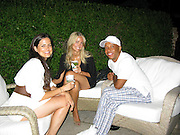 Russell Simmons with new girlfriend Molly and her sister Page..Unik's Edeyo Foundation Benefit..Private Residence..Bridgehampton, Long Island, USA.Saturday, July 12, 2008.Photo By Celebrityvibe.com.To license this image please call (212) 410 5354; or Email: celebrityvibe@gmail.com ;.website: www.celebrityvibe.com