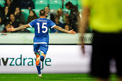 Fotis Papoulis of Cyprus celebrates during football match between National Teams of Slovenia and Cyprus in Final Tournament of UEFA Nations League 2019, on October 16, 2018 in SRC Stozice, Ljubljana, Slovenia. Photo by  Morgan Kristan / Sportida