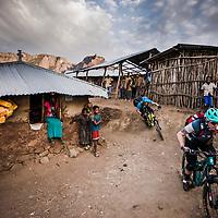 Sarah Leishman and Kamil Tartarkovic during our 9 day traverse of the SImien Mountains, Ethiopia.