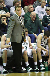 29 January 2011: Ron Rose during an NCAA basketball game between the Carthage Reds and the Illinois Wesleyan Titans at Shirk Center in Bloomington Illinois.