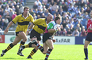 Peter Spurrier Sports  Photo. .Tel 44 (0) 7973 819 551.Photo Peter Spurrier.Quins v Wasps 22-9-01.Scott Bremand..[Mandatory Credit, Peter Spurrier/ Intersport Images][Mandatory Credit, Peter Spurrier/ Intersport Images]