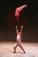 Karlsruhe. 04.09.15 Circus Flic Flac. 25 Jahre Programm &quot;H&ouml;chststrafe&quot;.<br /> Am 4. November 2015 kommt Flic Flac nach Mannheim. Preview zum aktuellen Programm.<br /> - Dima &amp; Dima (Dimitriy Makrushin und Dimitry Tarasenko)<br /> Bild: Markus Pro&szlig;witz 04SEP15 / masterpress (Bild ist honorarpflichtig)