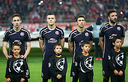 04.11.2015, Karaiskakis Stadium, Piraeus, GRE, UEFA CL, Olympiacos vs Dinamo Zagreb, Gruppe F, im Bild Marko Rog, Armin Hodzic, Jospi Pivaric, Goncalo // during UEFA Champions League group F match between Olympiacos and Dinamo Zagreb at the Karaiskakis Stadium in Piraeus, Greece on 2015/11/04. EXPA Pictures © 2015, PhotoCredit: EXPA/ Pixsell/ Slavko Midzor<br /> <br /> *****ATTENTION - for AUT, SLO, SUI, SWE, ITA, FRA only*****