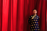 The MC at the Golden Dragon Water Puppet Theatre in Ho Chi Minh City, Vietnam