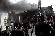 Kyrgyzstan's General Prosecutor's office burned for two days following looting and the chaos of April 7, when approximately 90 people died in violence that forced former President Kurmanbek Bakiyev to flee. April 9, 2010