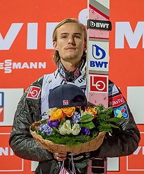 20.01.2018, Heini Klopfer Skiflugschanze, Oberstdorf, GER, FIS Skiflug Weltmeisterschaft, Einzelbewerb, Siegerehrung, im Bild Daniel Andre Tande (NOR) // Daniel Andre Tande of Norway // during Winner Award Ceremony of the individual competition of the FIS Ski Flying World Championships at the Heini-Klopfer Skiflying Hill in Oberstdorf, Germany on 2018/01/20. EXPA Pictures © 2018, PhotoCredit: EXPA/ Peter Rinderer