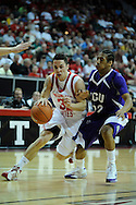 12 MAR 2009:  Texas Christian University takes on University of Utah during the Mountain West Conference Men's Basketball Tournament held at the Thomas & Mack Center in Las Vegas, NV.  Brett Wilhelm/NCAA Photos