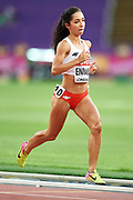 Great Britain, London - 2017 August 04: Sofia Ennaoui (MKL Szczecin) of Poland competes in women&rsquo;s 1500m qualification during IAAF World Championships London 2017 at  London Stadium on August 04, 2017 in London, Great Britain.<br /> <br /> Mandatory credit:<br /> Photo by &copy; Adam Nurkiewicz<br /> <br /> Adam Nurkiewicz declares that he has no rights to the image of people at the photographs of his authorship.<br /> <br /> Picture also available in RAW (NEF) or TIFF format on special request.<br /> <br /> Any editorial, commercial or promotional use requires written permission from the author of image.