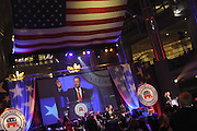US Election Day 2012..The Republican National Committee election party in the Ronald Reagan Building in Washington DC. RNC party Chairman Reince Priebus speaks before FOX News called the election for Obama.