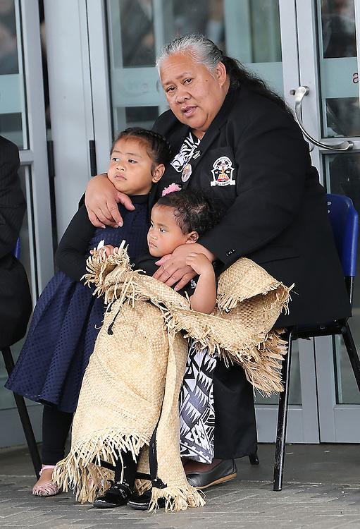 Jonah Lomu`s mother, Hepi Lomu at the `Aho Faka Famili, where  Pasifika communities celebrate the life of Jonah Lomu according to their traditions, Vodafone Events Centre, Manukau, Auckland, New Zealand, Saturday, November 28, 2015.   Credit:SNPA / David Rowland