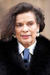 © Licensed to London News Pictures. 10/05/2012. LONDON, UK. Bianca Jagger is seen outside parliament before a press conference discussing the ongoing human rights abuses in Tibet. Photo credit: Matt Cetti-Roberts/LNP