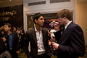 Dev Patel; NICK HOULT, The London Critics' Circle Film Awards 2009 in aid of the NSNCC. Grosvenor House Hotel . Park Lane. London. 4 February 2009 *** Local Caption *** -DO NOT ARCHIVE -Copyright Photograph by Dafydd Jones. 248 Clapham Rd. London SW9 0PZ. Tel 0207 820 0771. www.dafjones.com<br /> Dev Patel; NICK HOULT, The London Critics' Circle Film Awards 2009 in aid of the NSNCC. Grosvenor House Hotel . Park Lane. London. 4 February 2009