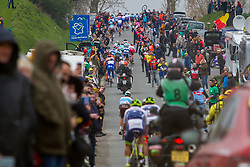 Peloton during the 2019 Paris-Roubaix (1.UWT) with 257 km racing from Compi&egrave;gne to Roubaix, France. 14th April 2019. Picture: Thomas van Bracht | Peloton Photos<br /> <br /> All photos usage must carry mandatory copyright credit (Peloton Photos | Thomas van Bracht)