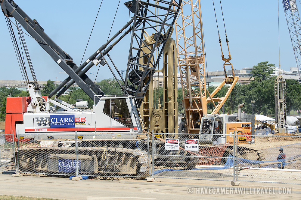 Smithsonian National Museum of African American History and Culture Construction Cranes. Cranes at the construction zone of the the Smithsonian National Museum of African American History and Culture, which is being constructed on the National Mall at the corner of Constitution Avenue and 15th Street NW. Status as of July 2, 2012. The projected completion date is Fall 2015.