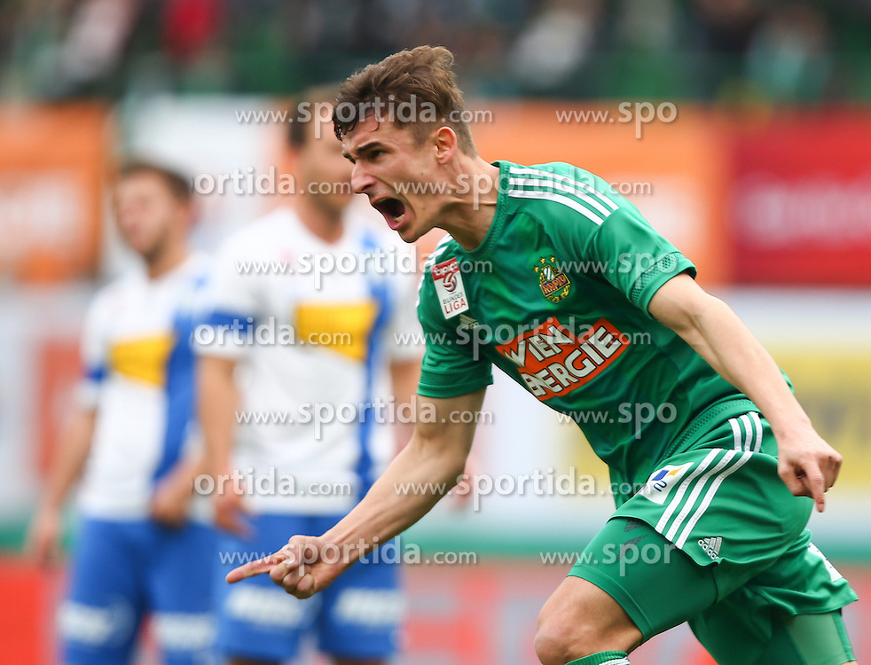 28.02.2016, Ernst Happel Stadion, Wien, AUT, 1. FBL, SK Rapid Wien vs SV Groedig, 24. Runde, im Bild Torjubel Matej Jelic (SK Rapid Wien) // during a Austrian Football Bundesliga Match, 24th Round, between SK Rapid Vienna and SV Groedig at the Ernst Happel Stadion, Vienna, Austria on 2016/02/28. EXPA Pictures © 2016, PhotoCredit: EXPA/ Thomas Haumer