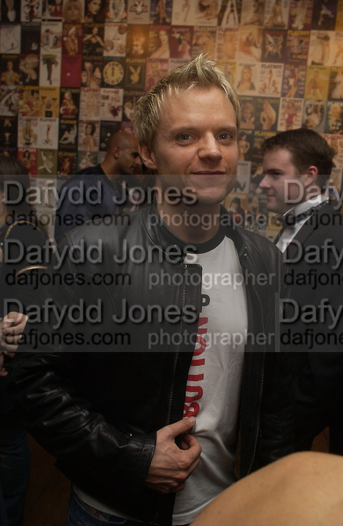 Mark Warren. 'Playboy Exposed' Private View at the Sony Ericsson Proud Camden on October 19, 2005 in London 19  October 2005. ONE TIME USE ONLY - DO NOT ARCHIVE © Copyright Photograph by Dafydd Jones 66 Stockwell Park Rd. London SW9 0DA Tel 020 7733 0108 www.dafjones.com