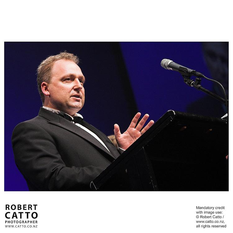 Rod Drury at the Wellington Region Gold Awards 07 at TSB Arena, Wellington, New Zealand.