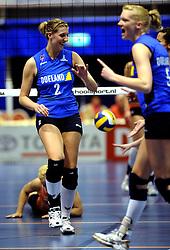 19-04-2008 VOLLEYBAL: AMVJ - DELA MARTINUS: AMSTELVEEN<br /> Martinus wint ook de derde wedstrijd in de best of 7 en is nog een overwinning verwijderd van het landskampioenschap / Annelies Mulder <br /> &copy;2008-WWW.FOTOHOOGENDOORN.NL