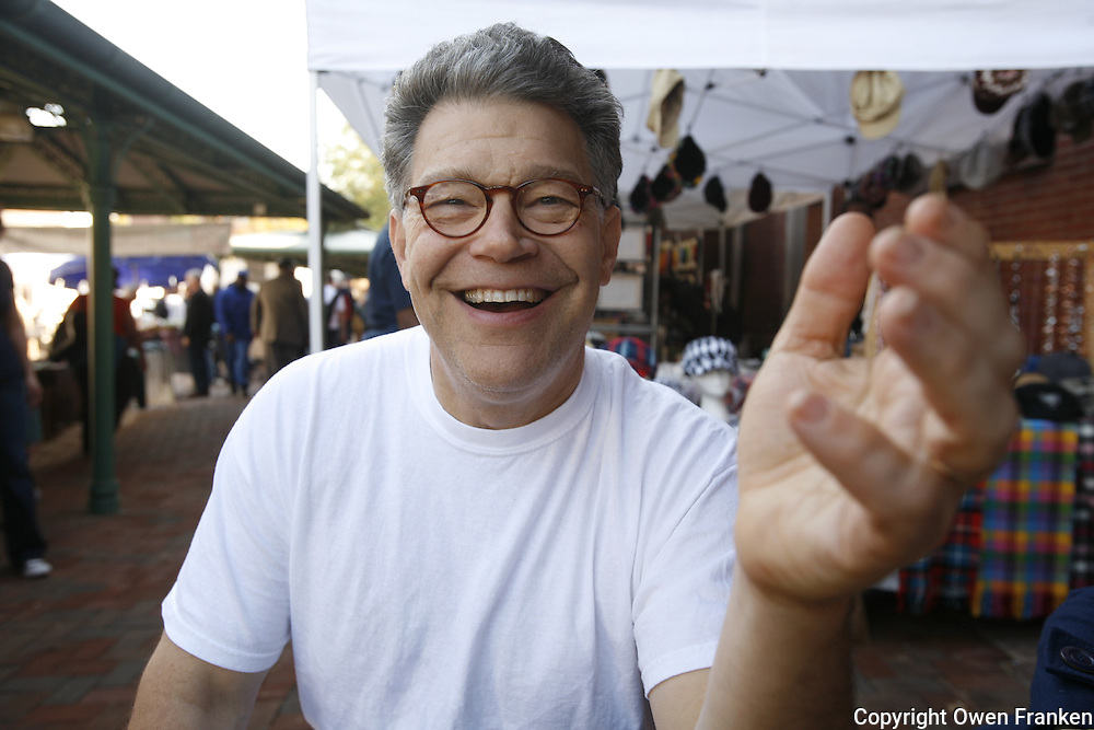 Al Franken in the Eastern market, Washington, DC.. ..Photograph by Owen Franken