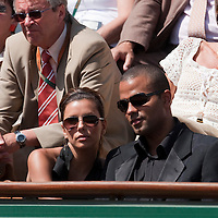 5 June 2009: Eva Parker Longoria and Tony Parker are seen during the Men's Singles Semi Final match on day thirteen of the French Open at Roland Garros in Paris, France.