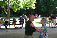 Tom Ferdelman of Union and Sandy Naas of Vandalia take a spin on the dance floor to the music of Duane Malinowski of Toledo during the Polish Summer Fest at the Polish Picnic Ground in Dayton, Sunday, July 31, 2011.