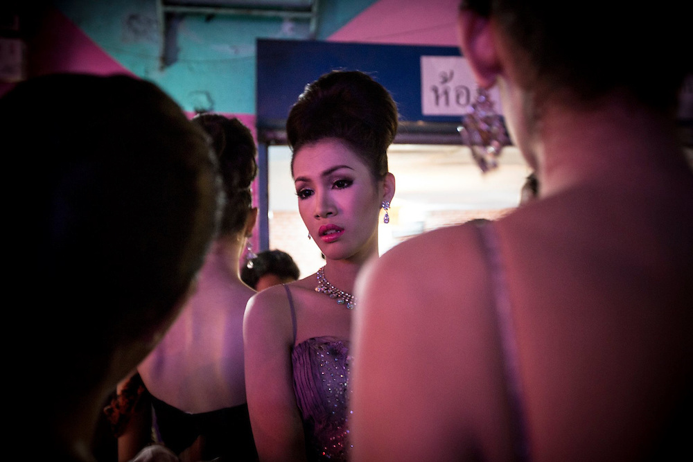 At a beauty contest, Bangkok. Thailand's Transgenders, &quot;Katheoys&quot; live in a kind of parallel universe within Thai society.<br />