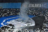 Tifosi Atalanta Supporters  <br /> Reggio Emilia 22-02-2018 Stadio del Tricolore Football Calcio Europa League 2017/2018 round of 32 Atalanta - Borussia Dortmund Foto Andrea Staccioli / Insidefoto