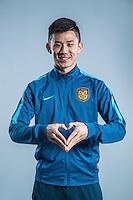 Portrait of Chinese soccer player Tao Yuan of Jiangsu Suning F.C. for the 2017 Chinese Football Association Super League, in Nanjing city, east China's Jiangsu province, 27 February 2017.