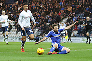 Callum Robinson during the Sky Bet Championship match between Preston North End and Brentford at Deepdale, Preston, England on 23 January 2016. Photo by Pete Burns.