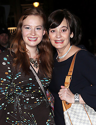 Cherie Blair and daughter Kathryn  arriving at the English National Ballet Christmas party in  London, Thursday, 12th December 2013. Picture by Stephen Lock / i-Images