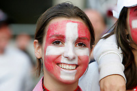 GEPA-0706085323 - SALZBURG,AUSTRIA,07.JUN.08 - FUSSBALL - UEFA Europameisterschaft, EURO 2008, Host City Fan Area Salzburg, Fanmeile, Fan Meile, Public Viewing, Fan Zone. Bild zeigt einen Fan der Schweiz.<br />Foto: GEPA pictures/ Sebastian Krauss