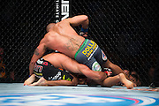 ACTION during UFC 181 at Mandalay Bay in Las Vegas, Nevada on December 6, 2014.