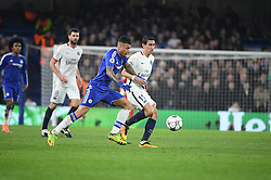 09.03.2016, Stamford Bridge, London, ENG, UEFA CL, FC Chelsea vs Paris Saint Germain, Achtelfinale, Rueckspiel, im Bild kenedy, di maria angel // during the UEFA Champions League Round of 16, 2nd Leg match between FC Chelsea vs Paris Saint Germain at the Stamford Bridge in London, Great Britain on 2016/03/09. EXPA Pictures © 2016, PhotoCredit: EXPA/ Pressesports/ LAHALLE PIERRE<br /> <br /> *****ATTENTION - for AUT, SLO, CRO, SRB, BIH, MAZ, POL only*****