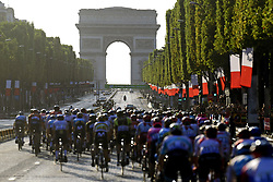 July 28, 2019, Edinburgh, France: PARIS, FRANCE - JULY 28 : Peloton on the Champs-Élysées during stage 21 of the 106th edition of the 2019 Tour de France cycling race, a stage of 128 kms between Rambouillet and Paris Champs-Elysees on July 28, 2019 in Paris, France, 28/07/2019 (Credit Image: © Panoramic via ZUMA Press)