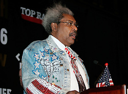 Co-promoter Don King at the press conference announcing the upcoming fight between IBF Welterweight Champion Zab Judah and Floyd Mayweather.  The fight will take place on April 8, 2006 in Las Vegas.