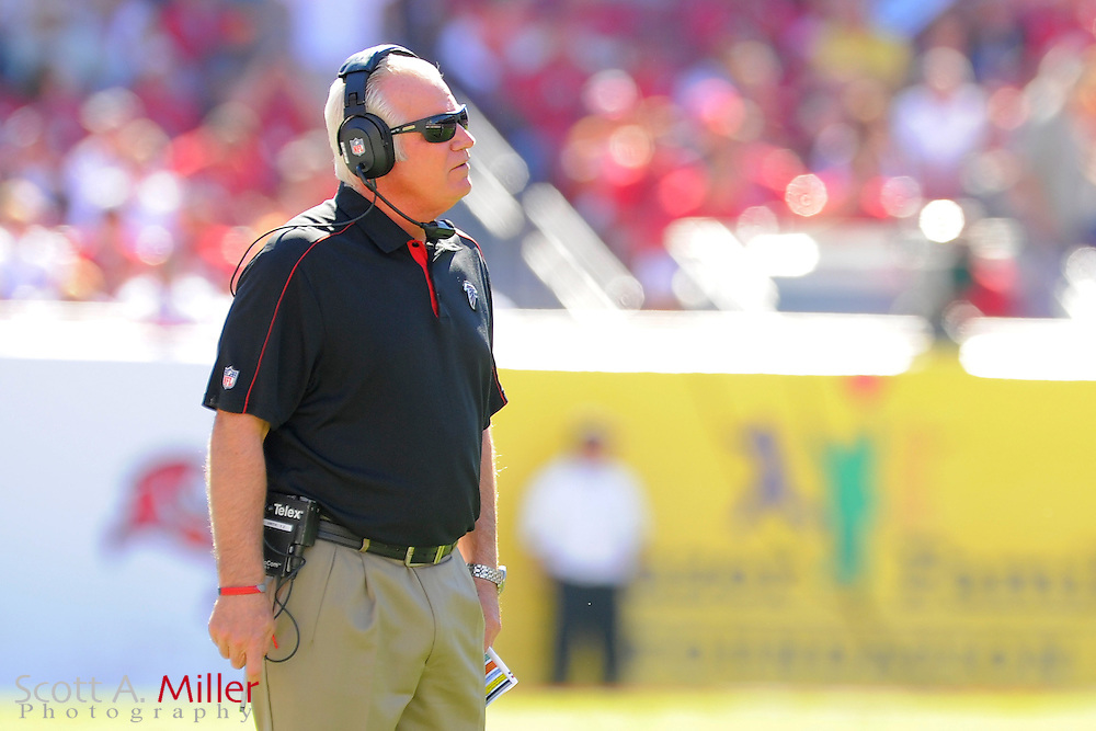 Atlanta Falcons head coach Mike Smith during the Falcons game against the Tampa Bay Buccaneers at Raymond James on November 25, 2012 in Tampa, Florida. ...©2012 Scott A. Miller.