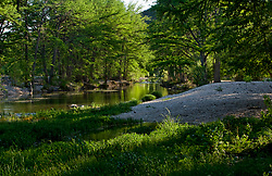 Stock photo of a quiet shaded section of the Frio River the Texas Hill Country