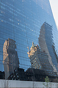 Late afternoon reflections on the side of 9 W 56th St., designed by Skidmore, Owings & Merrill.