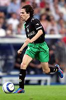 Yossi Shai BENAYOUN, Israeli Football player and Racing forward, with the ball. Real Madrid - Racing Santander / League 2004-05. Santiago Bernabeu Stadium, Madrid. 07-05-2005.  <br />  <br />  <br />  <br /> Norway only